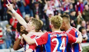 ISTIMEWA KEJAR JUARA: Bayern Muenchen akan mencetak hattrick juara di pentas Bundesliga seiring kemenangan 1-0 atas Hertha Berlin.
