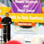 Wakil Wali Kota Bandung M Oded Danial memberikan motivasi jelang Unas