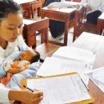 bawa bayi saat Ujian