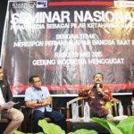Seminar bertajuk merespon permasalhan bangsa saat ini