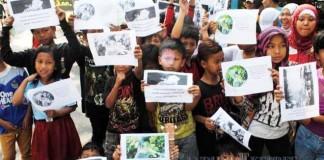 Aksi Stop Kekerasan Terhadap Anak - bandung ekspres