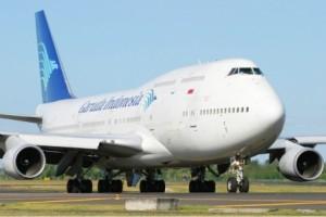 TAMBAH: Selama musim lebaran tahun ini PT Garuda Indonesia akan menambah kursi sebanyak 80 persen, terutama untuk rute penerbangan Bandung- Surabaya.