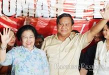 KOMPAK: Ketua Umum PDIP Megawati Soekarnoputri dan Ketum Gerindra Prabowo Subianto dalam sebuah kegiatan. Kedua partai tersebut akan bersinergi dalam Pilkada Kabupaten Bandung 2015.