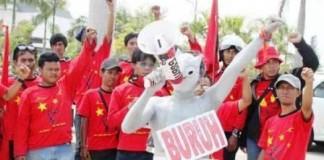 Demo Buruh Sukabumi