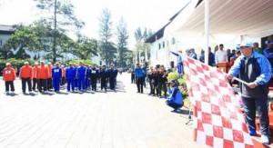 ISTIMEWA RESMIKAN: Wakil Gubernur Jawa Barat Dedi Mizwar membuka acara Pekan Olahraga Pemerintah Daerah Provinsi (Porpemprov) ke-11.