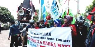 Demo UMK Buruh Cimahi