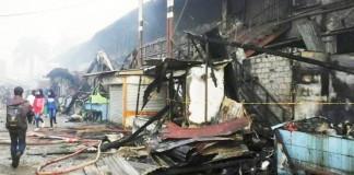 Kebakaran Pasar Panorama Lembang