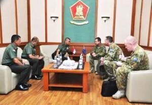 Pejabat Militer Australia Berdialog Kodiklat TNI