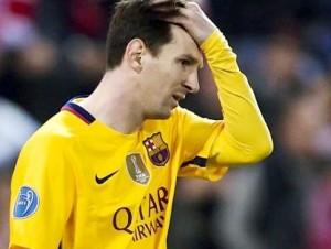 Pemain Barcelona, Lionel Messi.