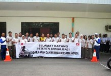 PT Gistek Indonesia Gandeng PT DAM Gelar Safety Riding