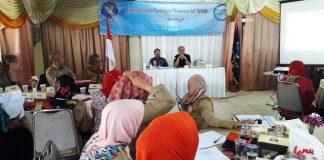 Kepala BNNK Kota Cimahi, Odang Masdar memaparkan bahaya narkoba