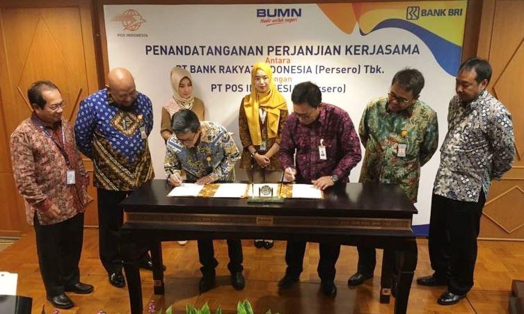 Pos Indonesia Bersinergi dengan Bank BRI 2
