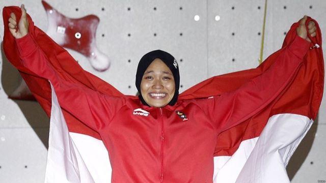 Atlet Panjat Tebing Aries Susanti Rahayu