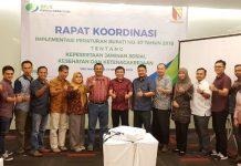 rapat koordinasi tentang Kepesertaan Jaminan Sosial Ketenagakerjaan Dan Kesehatan