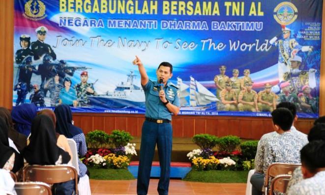 sosialisasi Penerimaan Taruna Angkatan Laut