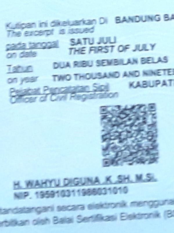 Lihat Barcode Di Kk Dan Akta Mulai Diterapkan Di Kbb Jabarekspres Com