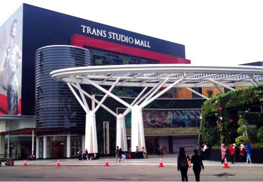 Situasi Trans Studio Mal di Kota Bandung terlihat sepi selama masa Pandemi