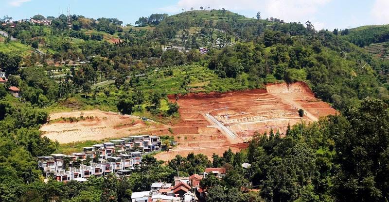BIDIKAN INVESTOR: Kawasan Bandung Utara kerap menjadi primadona para pengusaha untuk menginvestasikan seperti pembangunan perumahan dan hotel tanpa menempuh izin secara lengkap. (ILUSTRASI)