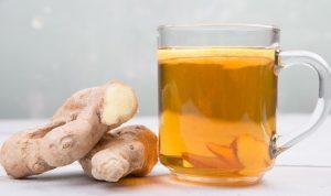 teh yang terbuat dari air jahe yang direbus