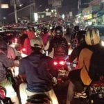 kondisi jalur Puncak Bogor terjadi kemacetan total pada Sabtu malam, (15/5) (Foto: Nitizen)