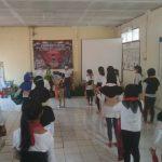 Sejumlah peserta tampak sedang mengikuti pelatihan tari gratis yang diselenggarakan Sanggar Tari Cantiq di Kelurahan Sukamaju, Cilodong, Depok (Haris Samsuddin/Jabar Ekspres)