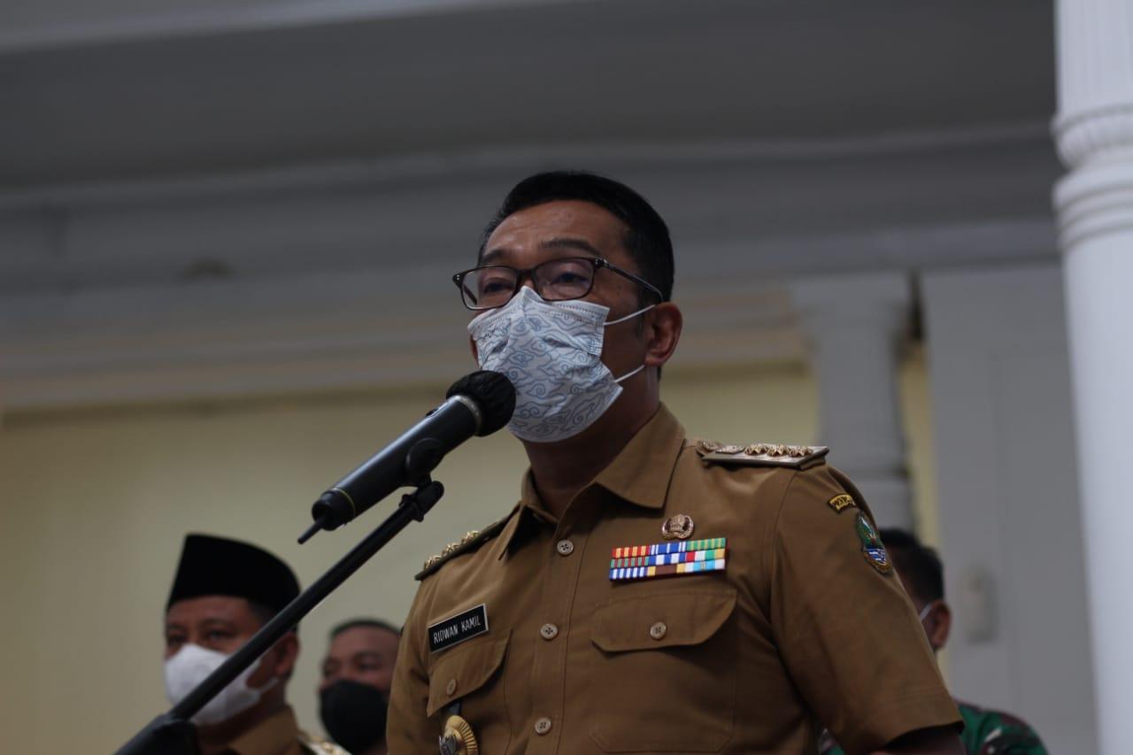 Gubernur Jawa Barat, Ridwan Kamil saat jumpa pers di Gedung Sate Kota Bandung, beberapa waktu lalu. (Sandi Nugraha/Jabar Ekspres)