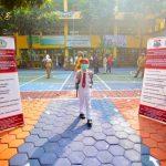 SIMULASI PTM: Situasi salah satu Sekolah Dasar (SD) di Cimahi yang menjalankan simulasi PTM.