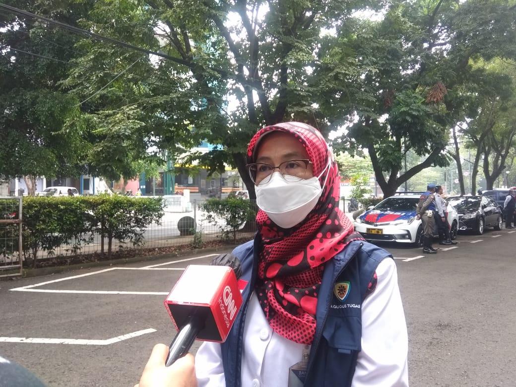 Kepala Dinas Kesehatan Kota Bandung, Ahyani Raksanagara di SMP Taruna Bakti, Jl. R.E Martadinata No. 52, Kota Bandung, Rabu (19/5) (Foto:Nurrani Rusmana)