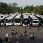 Dinas Perhubungan (Dishub) Kota Bekasi mencatat sebanyak 8.425 pemudik tinggalkan wilayah Bekasi menggunakan bus dari Terminal Bekasi di Jalan Ir H Juanda, Kota Bekasi. Data pemudik tersebut tercatat sejak 22 April hingga Selasa (4/5).