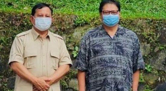 Pertemuan Prabowo dan Airlangga di Hambalang dalam rangka Silahturahmi Politik.