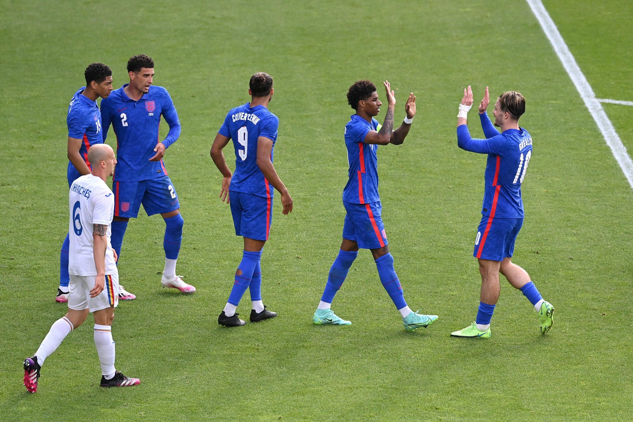Punggawa tim nasional Inggris, selepas beres bertanding, baru-baru ini. (@England/Twitter)