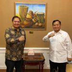 Airlangga Hartarto dan Prabowo Subianto (Istimewa)