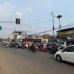 Kemacetan di ruas Jalan Raya Padalarang akibat adanya penumpukan kendaraan di persimpangan. (Ilustrasi)