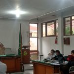 Suasana sidang lanjutan Wali Kota Cimahi non aktif, Ajay Priatna di pengadilan TIPIKOR Kota Bandung, Senin (14/6).