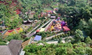 ILUSTRASI WISATA: Objek wisata The Great Asia Africa di Lembang, KBB, sepi pengunjung karena kebijakan penutupan sepekan ke depan.