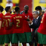 Bruno Fernandes bersama punggawa timnas Portugal lainnya. (@selecaoportugal/Twitter)