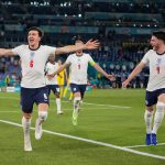 SELEBRASI: Punggawa tim nasional Inggris merayakan gol yang tercipta/@England/Twitter/