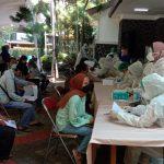 Dok. Pelaksanaan Vaksinasi di GKI, Jl. Van Dr Venter, Kec. Sumur Bandung, Kota Bandung, Kamis (29/7). Foto. Sandi Nugraha