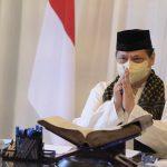 Menteri Koordinar Bidang Perekonomian Arlangga Hartarto mengucapkan selamat Idul Adha.