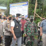 Pangdam III Siliwangi bersama Gubernur Jawa Barat dan Kapolda Jabar melakukan monitoring penerapan PPKM Jabar