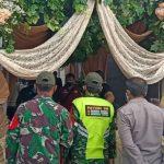 Petugas Satgas penanggulangan Covid-19 mendatangi acara resepsi pernikan yang digelar oleh oknum ASN di Kabupaten cianjur.