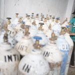 Tabung Oksigen siap didistribusikan ke sejumlah rumah sakit