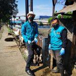 PERIKSA HEWAN: Pihak Dispangtan Kota Bandung melakukan pemeriksaan hewan kurban.
