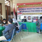 ILUSTRASI: Pelaksanaan sidang Tipiring pelanggar PPKM Darurat di KBB.
