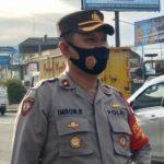 Kapolsek Rancaekek, Kompol Imron Rosyadi di wilayah Dangdeur, Kecamatan Rancaekek, Kabupaten Bandung, beberapa waktu lalu. (Yanuar Baswata/Jabar Ekspres)