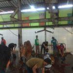 Tempat jagal hewan kurban di DKPP Kota Bandung.