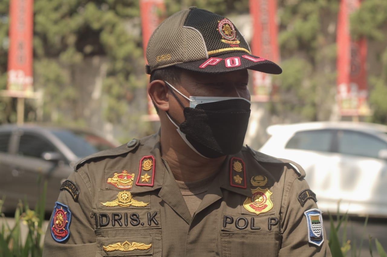 Kabid PPHD Satpol-PP Kota Bandung, Idris Kuswandi.