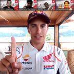 Pebalap dunia MotoGP, Marc Marquez memberikan kejutan dan menyampaikan semangat bagi para bikers Honda di Tanah Air melalui kehadirannya pada acara silahturahmi virtual Ngobrol Online Seputar Komunitas atau NGOPREK (12/8).