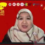 Tangkapan layar Juru Bicara Vaksinasi COVID-19 Kementerian Kesehatan Siti Nadia Tarmizi saat hadir pada kegiatan webinar, 28 Juli 2021. (ANTARA/Andi Firdaus).