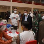 Staf Khusus Presiden Aminudin Ma'ruf turut meninjau langsung proses vaksinasi di UGJ